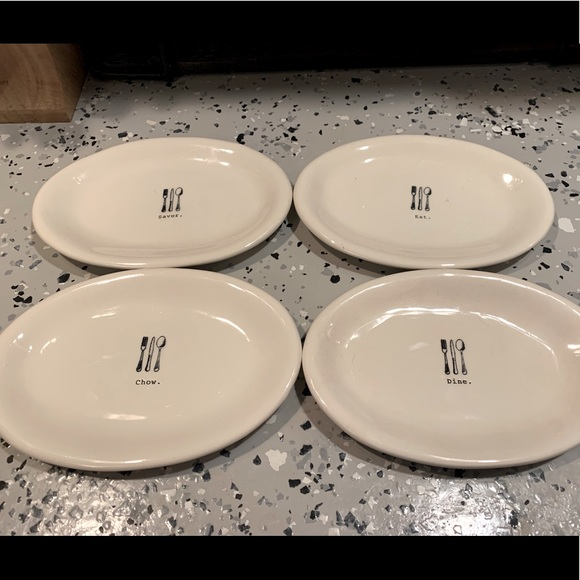 Rae Dunn Icon appetizer plates - set of 4